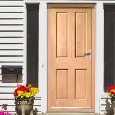 exterior panel doors. colonial exterior 4 panel oak door - lifestyle image doors r