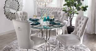 awesome vesta studded dining room chair in grey faux leather a for stylish studded dining room chairs ideas