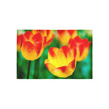 tulip flower flora red yellow green color spring area rug 5 x3 3 id d2209801