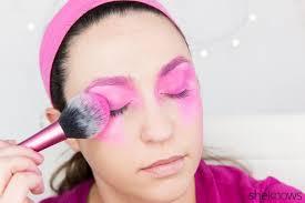 pin jem makeup tutorial step 4 80s workout hair and