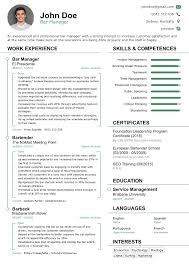 2017 Professional Résumé Templates For Your Dream Job