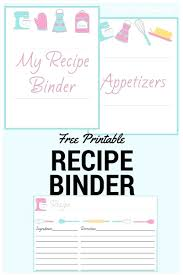 020 Free Printable Recipe Book Cover Template Ideas How To