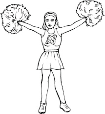 Cheerleaders Coloring Pages Printable To Print Free Page Sheets For