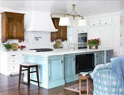 kitchen with turquoise island the turquoise island is sherwin williams sw6226 id blue and the