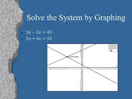 5 solving systems of equations l there are multiple ways to solve systems of equations graphing substitution equal values method elimination
