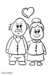 Disegni Per La Festa Dei Nonni Da Stampare E Colorare Portale Bambini