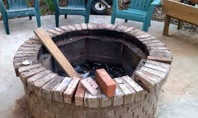 diy brick fire pit kit fireplace design ideas