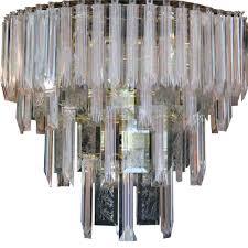 mid century lucite chandelier 12 lights