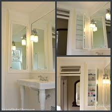 diy vintage bathroom renovation see the extra large recessed mirrored cabinet we designed