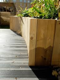 Small Picture Railway sleepers laid vertically for cost effective raised beds
