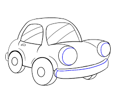 how to draw a cartoon car easy step