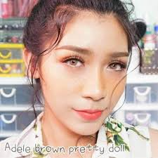Pretty Adele Brown   Softlens Queen - Natural Colored Contact Lenses