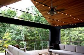 rustic ceiling fan light create cool relaxed mood on porch