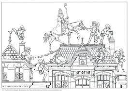 Tekeningen Van Sinterklaas Pz13 Belbin Kleurplaat Huis Van
