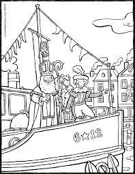 Sint En Piet Op De Stoomboot Kiddicolour