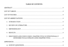 best table of contents templates for microsoft word table of contents 10 doc