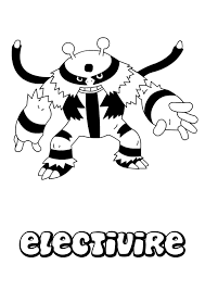 Small Picture Electivire coloring pages Hellokidscom