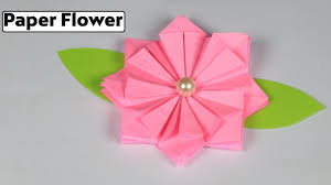 Paper Origami Flower Making How To Make Origami Flower Making Paper Flowers Step By Step Very