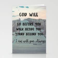 Quote Cards Magnificent I Am With You Always Bible Verse With Quote Stationery Cards By