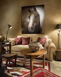 western living room decor western