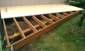 wonderful footings ground level deck plans footings how to build a platform building in e