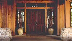 exterior door materials wood