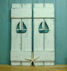 Diy Exterior Window Shutters Shutter Interior Exterior One Weathered Wood Beach House Shutter
