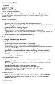 Resume Call Center Free Resume Example And Writing Download