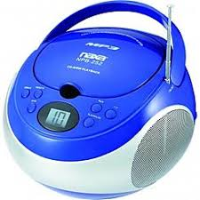 Naxa 97077727M Portable MP3/CD Player with AM/FM Stereo Radio- Blue Boom Boxes \u0026 Stereos - Sears