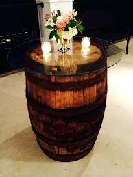 cocktail table decor rustic wine barrels event services barrel decorations