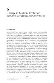 change in motion evolution between layering and conversion springer inside