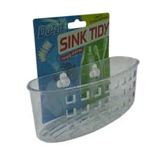 Kitchen Tidy Clear Plastic Kitchen Bathroom Sink Tidy With Suction Cups