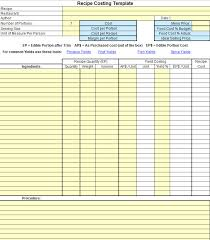 Recipe Form Templates Plate Cost How To Calculate Recipe Cost Chefs Resources
