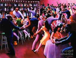 harlem renaissance painting nightlife by pg reions