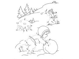Dot To Dot - Printable - Winter