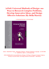 Complex Design Problems Epub Universal Methods Of Design 100 Ways To Research