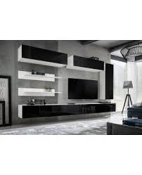 Idea L1 - black \u0026 white modern entertainment center Modern living room wall units for tv /