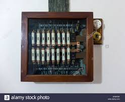fuse box house stock photos fuse box house stock images alamy early 20th century electrical fuse box wooden a glass front in a large house