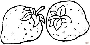 Twee Aardbeien Kleurplaat Gratis Kleurplaten Printen