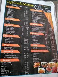 Almond milk & soy milk. Cafe Crush Islampur Sangli Sangli Food Menu Card Justdial