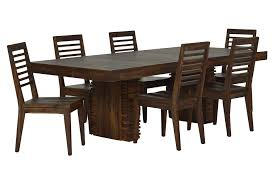 Living Spaces Dining Table Set Teagan 7 Piece Extension Dining Set Living Spaces Dining Sets