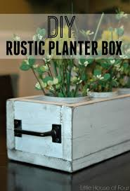 Rustic Dining Table Planter Box Little House Of Four Creating - Diy rustic dining room table
