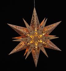 Details Zu Holzstern Leuchtstern Weihnachtsstern Fensterbild Beleuchtet 30cm Batterie
