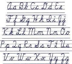 Cursive Letters Chart Cursive Alphabet Chart Cursive Alphabet Cursive Chart