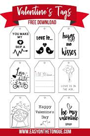 There's a whole day to celebrate love! Free Printable Valentines Gift Tags