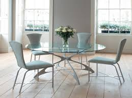 glass round dining table for 4