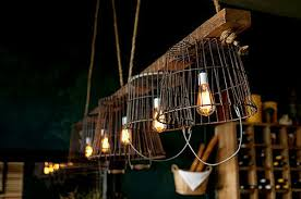 into lighting. Vintage Wire Baskets Turned Into Light Fixtures Lighting