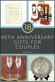 awesome wedding anniversary gift ideas fresh for friends 40th unique pas anniv