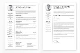Template For Resumes Simple Clean Resume Template Resume Templates Creative Market