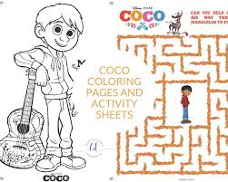 Free disney pixar coco coloring pages for kids and adults. Coco Coloring Pages And Activity Sheets Crazy Adventures In Parenting
